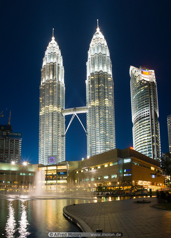 15 Petronas towers at night