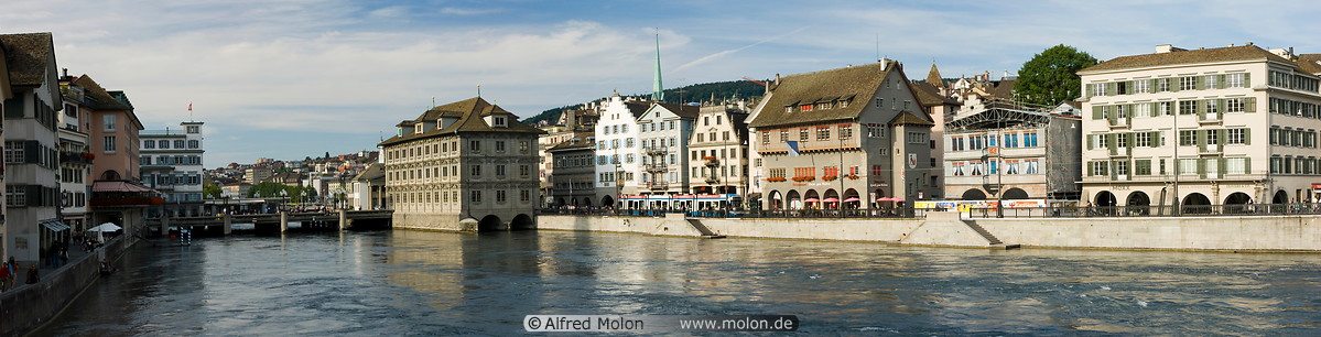 20 Limmat waterfront with town hall and bridge